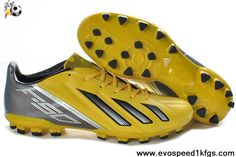 Buy Latest Listing Adidas F10 TRX AG Yellow Black White Soccer Shoes On Sale