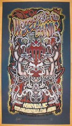 2013 Widespread Panic - Asheville Blue Concert Poster by JT Lucchesi
