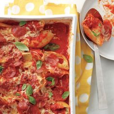 It looks like your usual stuffed shells, but hidden under the cheese, pepperoni, and marinara is an ingredient that may surprise you. It's your secret to tell. Or not.