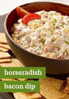 Horseradish-Bacon Dip