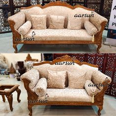 Sofa Design, Furniture Design, Set Video, Wooden Sofa Set, Center Table, Teak Wood, Living Area, Living Room Furniture, Sofas