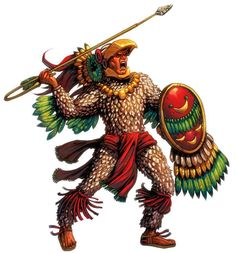 How did an Aztec become a warrior? First an Aztec commoner (a commoner is a person that is not rich or is a celebrity or famous person, they are normal, average humans) you would. Soldado Universal, Dark Sun, Aztec Clothing, Warrior Clothing, Tribal Warrior, Aztec Culture, Inka, Aztec Art, Mesoamerican