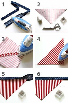 Create your own DIY dog bandana. Here's a step by step tutorial with free sewing pattern. A fun, fast and easy sewing craft project for you and the kids. Dog Clothes Patterns, Sewing Patterns Free, Free Sewing, Dog Collar Bandana, Diy Dog Collar, Bandana For Dogs, Bandana Ideas, Dog Crafts, Sewing Crafts