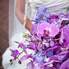 Orchids are a perfect fit for a vintage inspired backyard wedding