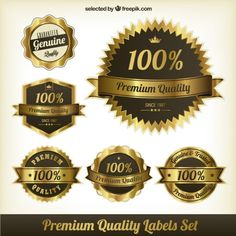 Golden labels Free Vector
