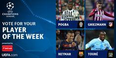 Neymar é indicado para jogador da semana na Liga dos Campeões #globoesporte