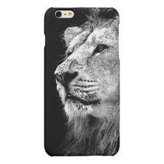 Black & White Lion iPhone 6 Plus Case