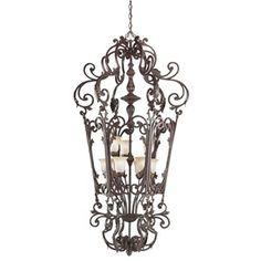 Kichler 2472CZ 9 Wilton Mini Foyer 9 Light Incandescent Chandelier; Carre Bronze