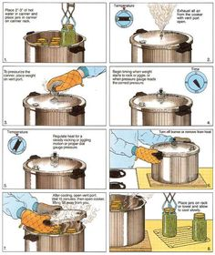 Dont let a little steam and boiling water scare you. Pressure canning and water bath canning are safe methods to preserve your food. Learn how with this excerpt from the USDA Complete Guide to Home Canning, from MOTHER EARTH NEWS magazine. Canning Corn, Canning Tips, Home Canning, Canning Recipes, Canning Food Preservation, Preserving Food, Konservierung Von Lebensmitteln, Survival Food, Survival Life