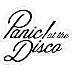 At The Disco Embroidered Patch, Die Cut Black On White Script Stacked Logo, Panic! At The Disco Logo Embroidered Patch, Panic! At The Disco Novelties, Panic! At The Disco Merchandise Band Stickers, Phone Stickers, Cool Stickers, Printable Stickers, Guitar Stickers, Panic! At The Disco, Panic At The Disco Lyrics, Gorillaz, Pretty Little Liars