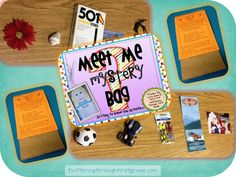 Beginning of school year getting to know you activities - Meet Me Mystery Bag