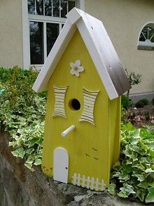 green bird house