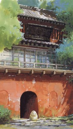 ☆ Studio Ghibli ☆ - Spirited Away scenery Art Studio Ghibli, Studio Ghibli Movies, Animes Wallpapers, Cute Wallpapers, Movie Wallpapers, Aesthetic Anime, Aesthetic Art, Spirited Away Wallpaper, Studio Ghibli Background