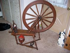 Canadian Production Wheel - used to produce some of my yarns
