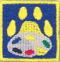 Cub Scouts/The Artist merit badge; Partiotuote, Taitelija-jälki , Sudenpentujen Taiteilija-jälki