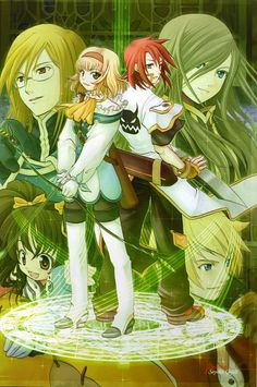 Tags: Anime, Scan, Tales of the Abyss, Anise Tatlin, Guy Cecil