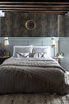 a perfect balance of masculine and feminine Bedroom Design Inspiration, Beautiful Bedrooms, Contemporary, Modern, Bed Pillows, Relax, Feminine, Layout, Interior Design