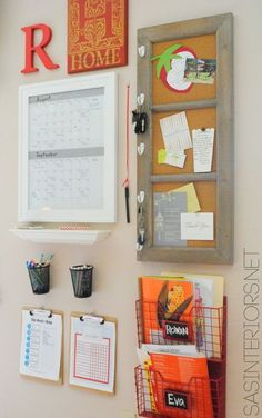 Kids Central Command Family Center Craft Idea
