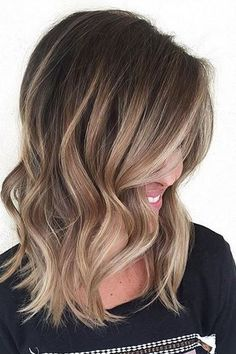 Bronde Caramel Hair Color Ideas for Medium Length Hairstyles 2017