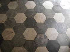 Hexagonal marble floor     Hexagonal floor   white Carrara marble and  bardiglio