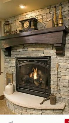 Curved hearth