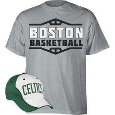 adidas Boston Celtics Hat and T-Shirt Combo
