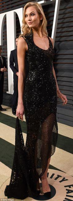 #KarlieKloss #Oscars #Oscars2015 #VanityFair