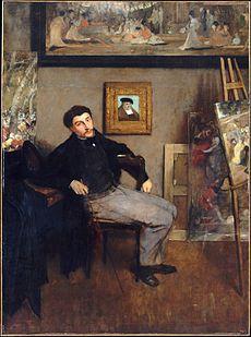 E. Degas, Ritratto di James Tissot (1867-1868)