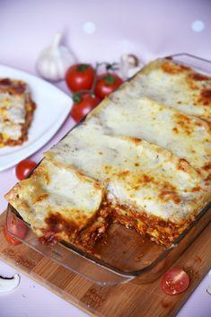 Przepis na domową lasagne - Po Prostu Pycha Snack Recipes, Snacks, Food And Drink, Pizza, Meals, Dishes, Baking, Ethnic Recipes, Impreza