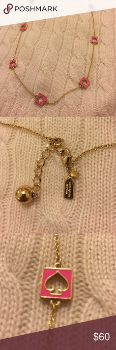Kate Spade Pink and Gold Necklace Kate Spade necklace in gold and pink. 100% authentic Kate Spade Jewelry Necklaces