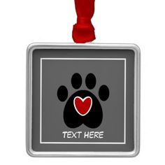 Customizable Paw Print and Heart