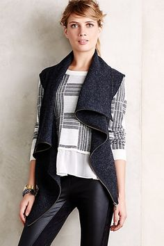 Waved Charcoal Vest by Gro Abrahamsson #anthropologie #anthrofave get 25% this SALE item with coupon code HOLIDAY25