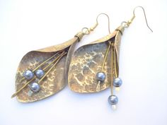 Handmade EarringsHandcrafted JewelryHand by AnnaRecycle on Etsy, €25.00