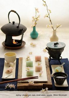 Tea and wagashi