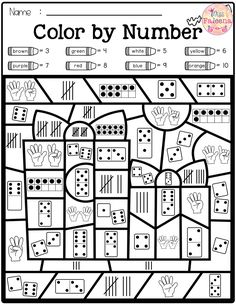 Math games 398709373259933410 - There are 4 pages of color by math worksheets in this product. These pages are fun and effective way to learn number, counting, addition and subtraction. Students can use crayons, colored pencils or markers. Pre- K Preschool Math, Kindergarten Worksheets, Math Classroom, Teaching Math, In Kindergarten, Math Math, First Grade Math Worksheets, Number Sense Kindergarten, Classroom Freebies