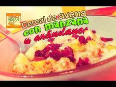 Cereal de avena con manzana y arándanos (para el desayuno) - YouTube