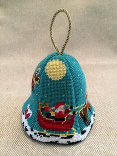 3-D Bell ~ needlepoint canvas by Susan Roberts