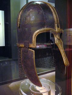 The Coppergate Helmet (also known as York Helmet) is an 8th-century Anglo-Saxon helmet found in York. It is remarkably well preserved and is one of only four Anglo-Saxon helmets discovered to date. The partial remains of a fifth helmet were found in the Staffordshire Hoard.