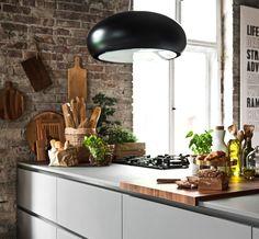 ATLAS KUCHNIE. OKTAWIA+ - Avila listwowa satin ciemnoszary, Penelopa listwowa palisander flader. #kuchnia #kitchen #kuchnianawymiar #drewno #wood #szarakuchnia #loft #loftstyle #okap #pałac #cegła #AtlasKuchnie #wnętrza Ceiling Lights, Lighting, Kitchen, Home Decor, Cooking, Decoration Home, Room Decor, Kitchens, Lights