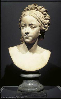 """""""Portrait bust of Natalie de Laborde """"(1774-1835) 1789 Augustin PAJOU (Paris, 1730 - Paris, 1809) (Selected works from The French Revolution-Louvre museum)"""