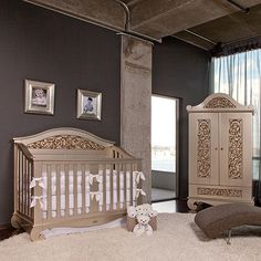 Chelsea Lifetime Crib in Antique Silver from PoshTots