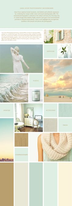 Mood Board for Sara Gove Photography We are so excited to announce that we are collaborating with Sara Gove, a Chicago based photographer with remarkable talent.Sara has a natural artistic vision and photographs anything from family photos, to senior portraits, to artsy environmental scene