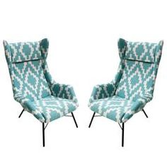 Pair of Armchairs Designed by Miroslav Navratil