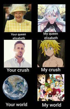 Your/my seven deadly sins nnt Nerd Memes, Stupid Memes, Funny Memes, Seven Deadly Sins Anime, 7 Deadly Sins, Meliodas And Elizabeth, Seven Deady Sins, 7 Sins, Mood Wallpaper