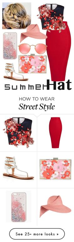 """""""#summer #hat #dress #fashion #street #style #insta #dress #top #celebrity #skirt #pencil #slippers"""" by maryammeraj on Polyvore featuring French Connection, Posh Girl, Clover Canyon, New Look, Ray-Ban, Eugenia Kim and summerhat"""