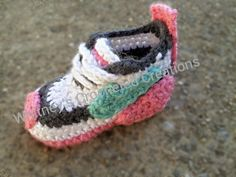 Nike Inspired tennis shoes Crochet pattern pdf and doc newborn to 6t
