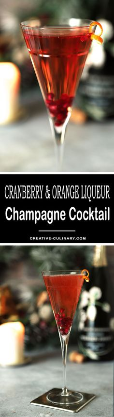 Make your champagne toast even more special with a Cranberry and Grand Marnier Champagne Cocktail which includes cranberry juice, orange liqueur and your favorite bubbly!