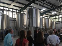Carly Wiggins with Southbound Brewing Company leads our group through the brewing process.