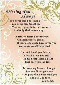 Missing you always poem