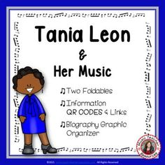 Introduce your young music students to female composer Tania Leon and her music. This is an excellent addition to your Listening lessons! This resource contains: - TWO different FOLDABLES in BOTH COLOR AND B/W. - This foldable is a perfect accompaniment to foldable 1, or can be used on its own to respond to Tania Leon's music during a listening lesson #mtr #musicteacher #musiced #musiceducation #musicteacherresources